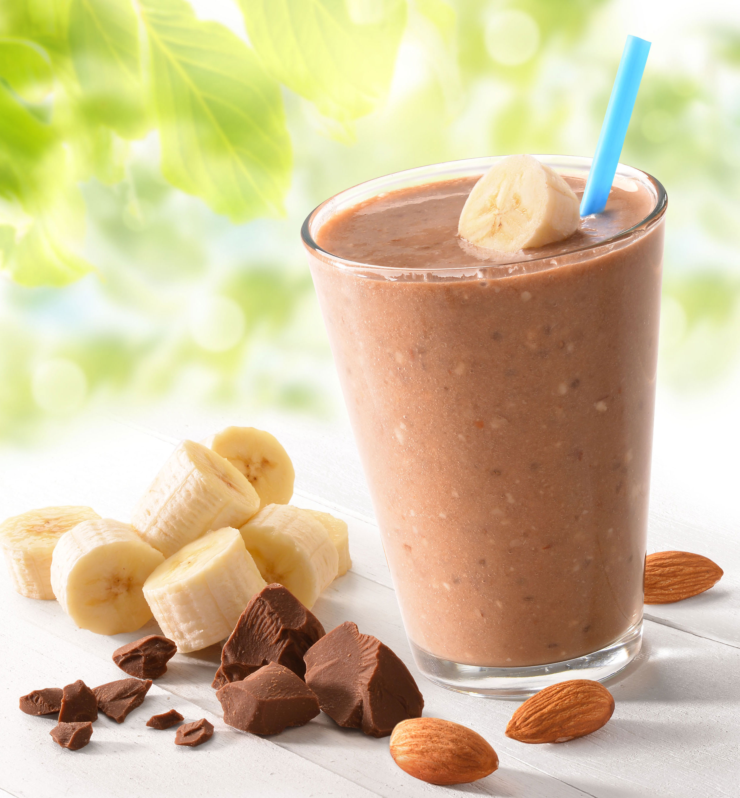 mike wepplo photoreal photography chocolate banana smoothie