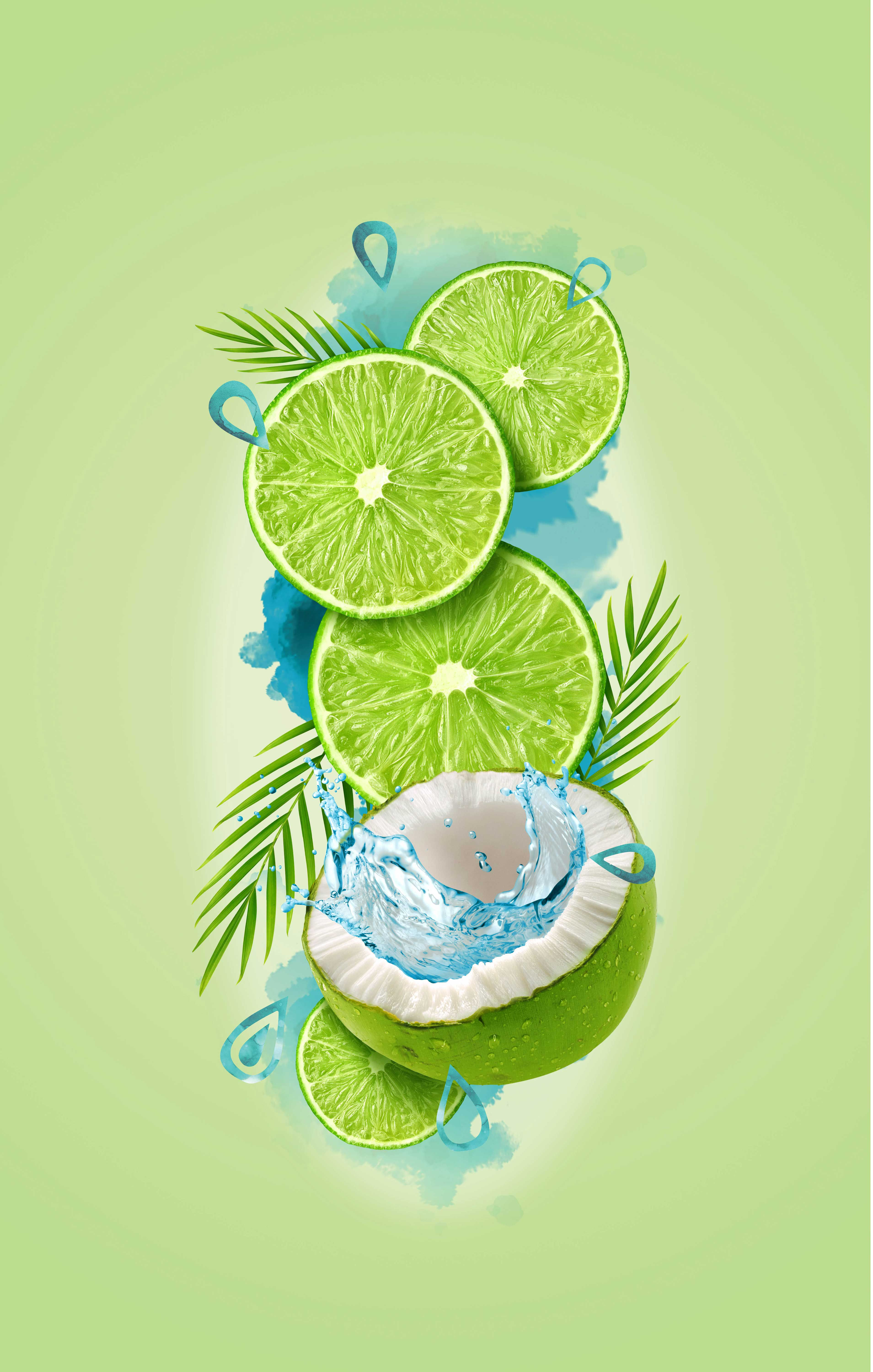 mike wepplo photoreal photography fresh lime coconut water