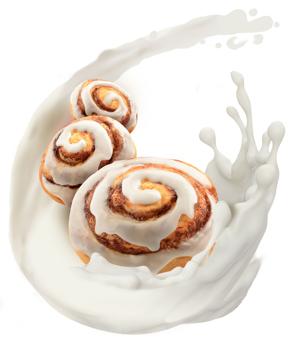 mike wepplo photoreal photography dial soap seasonal cinnamon rolls with milk splash