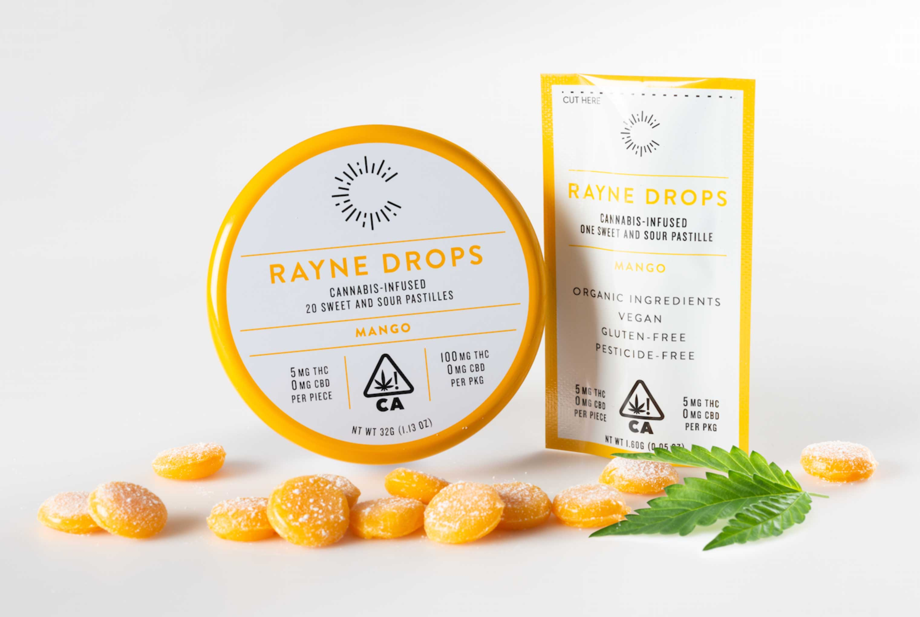 mike wepplo cannabis photography Rayne Drops Mango flavor