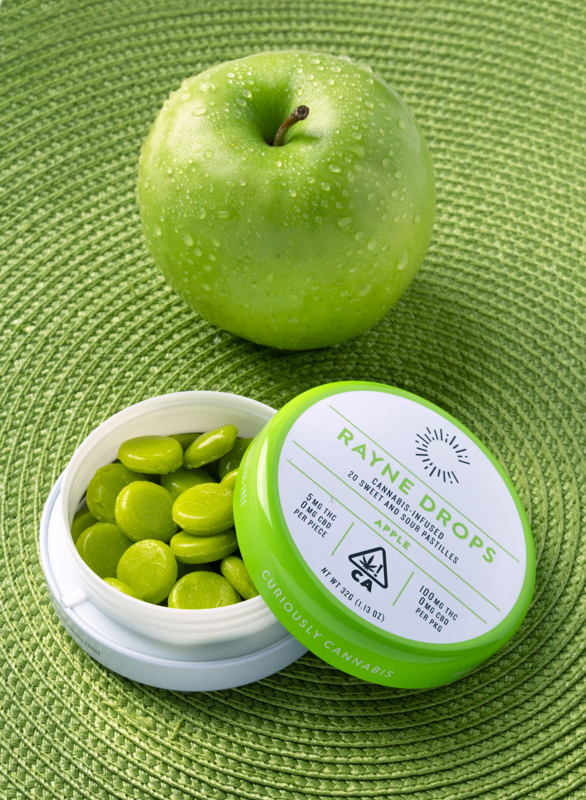 mike wepplo cannabis photography Rayne Drops green apple flavor