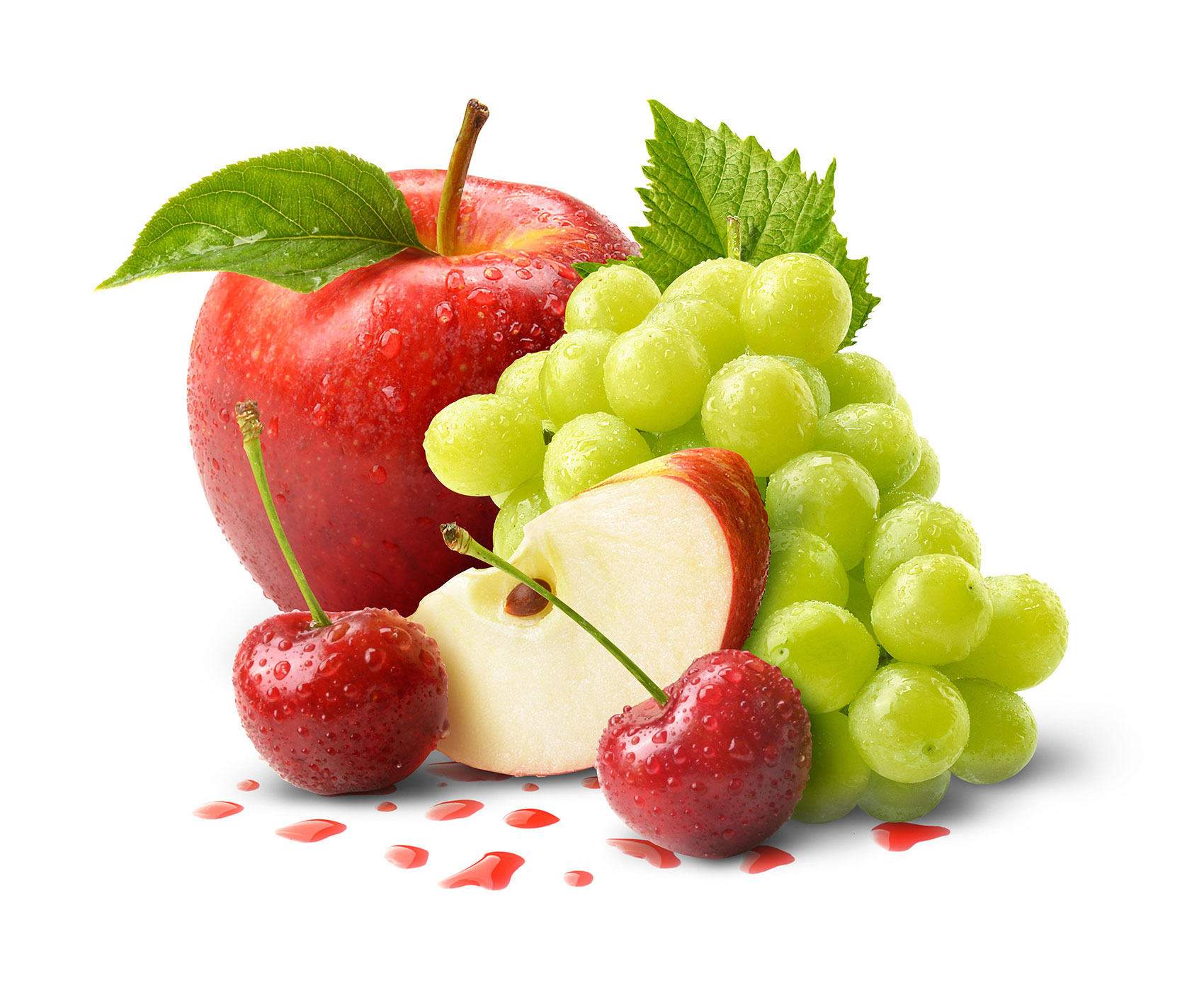 mike wepplo photoreal photography apple grapes cherry fruit