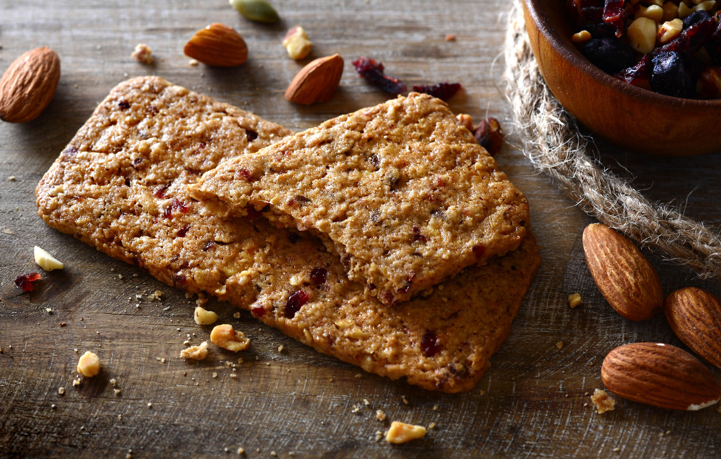 mike wepplo natural photography breakfast granola bars with almonds