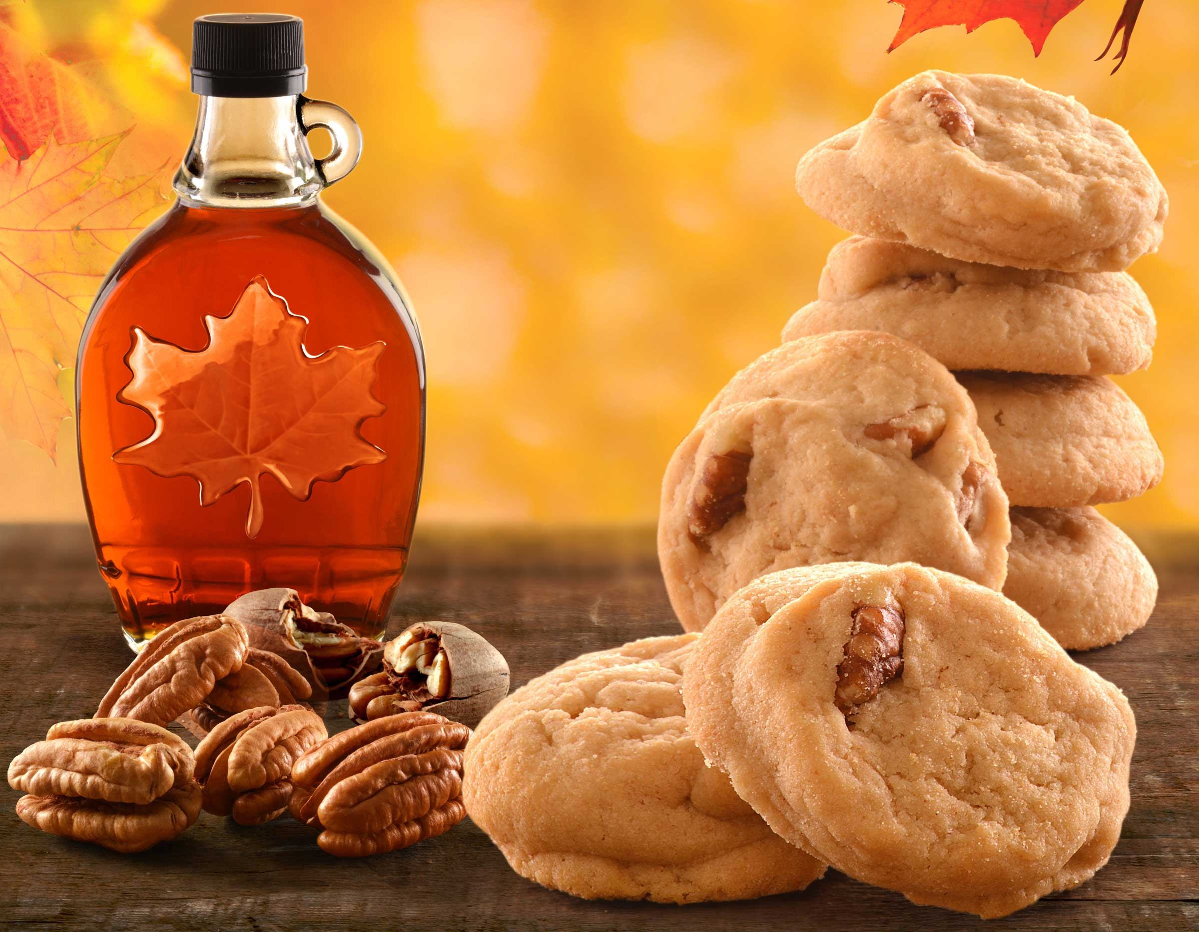 mike wepplo photoreal photography maple syrup and cookies