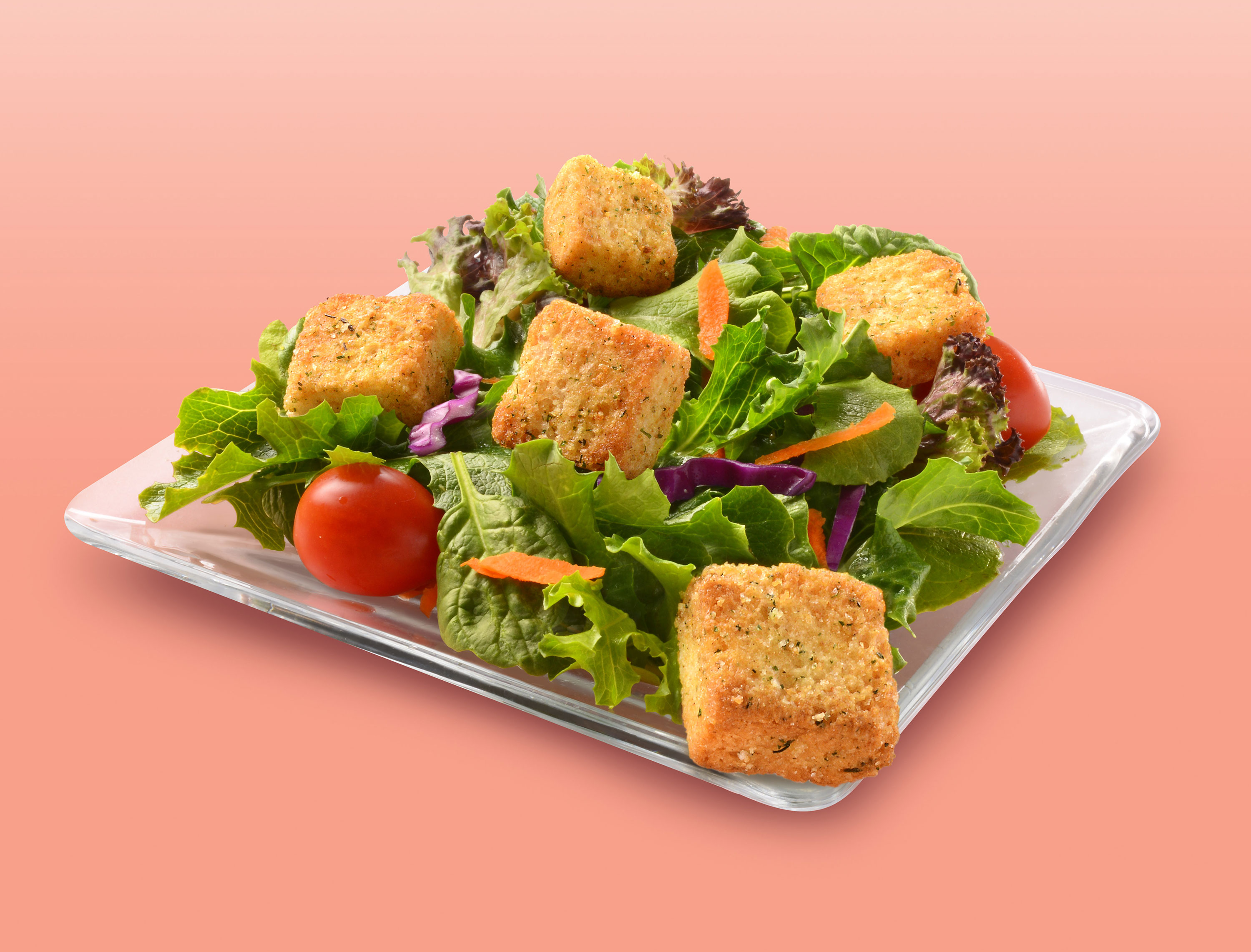 mike wepplo photoreal photography salad tomato carrot lettuce croutons