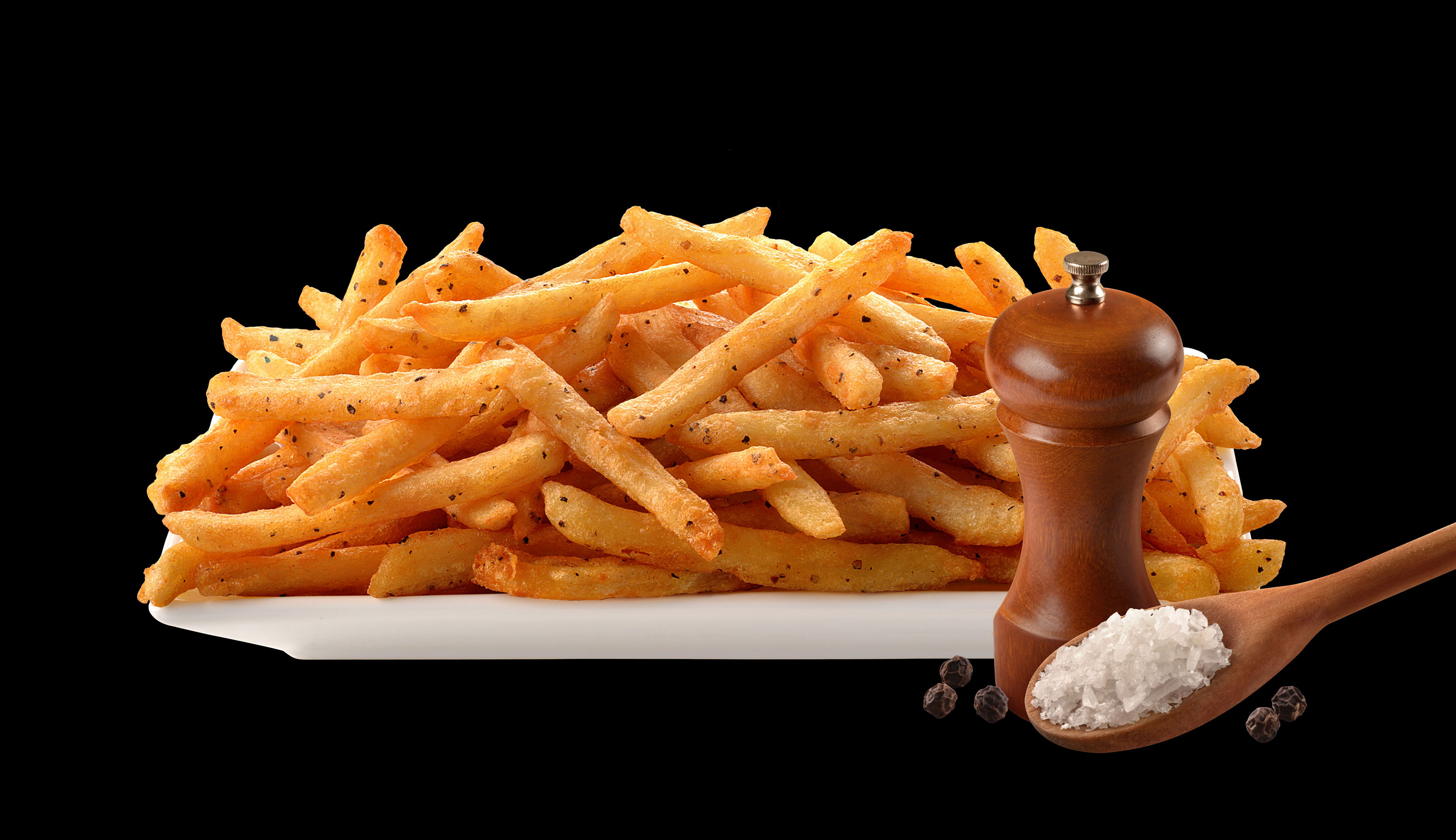 mike wepplo photoreal photography salt and pepper fries