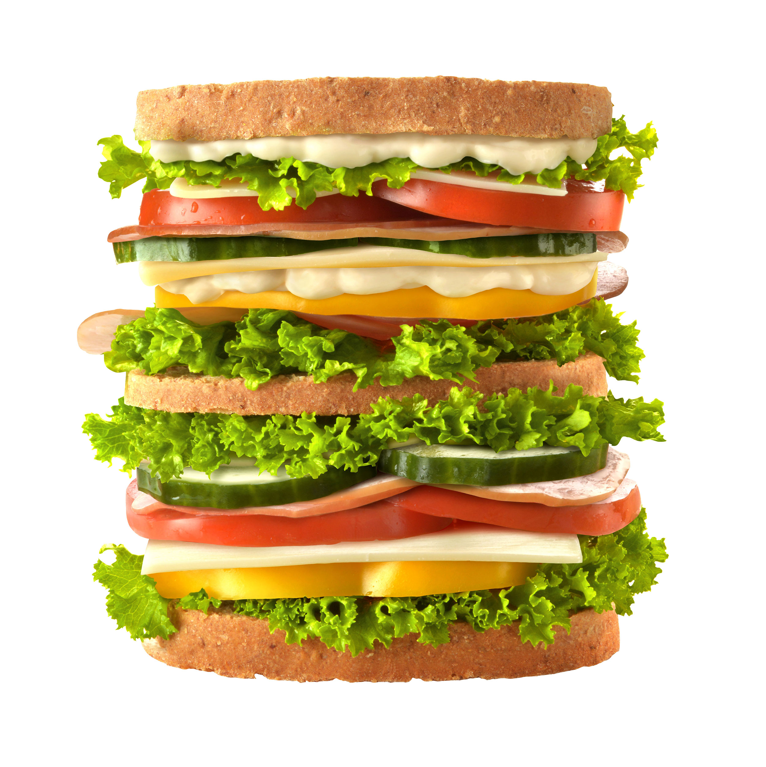mike wepplo photoreal photography triple decker sandwich